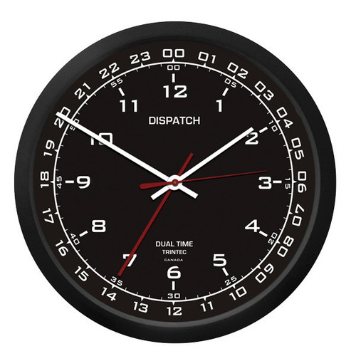 "10"" Dispatch Dual Time Clock (Zulu) - Black"