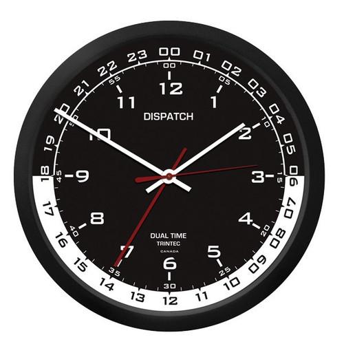 """10"""" Dispatch Dual Time Clock (Zulu) - Black Inner"""