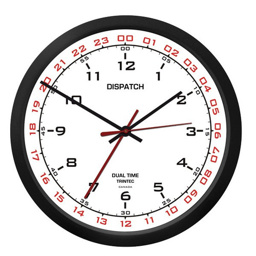 "10"" Dispatch Dual Time Clock (Zulu) - White"