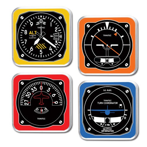 4 Piece Retro Coaster Set