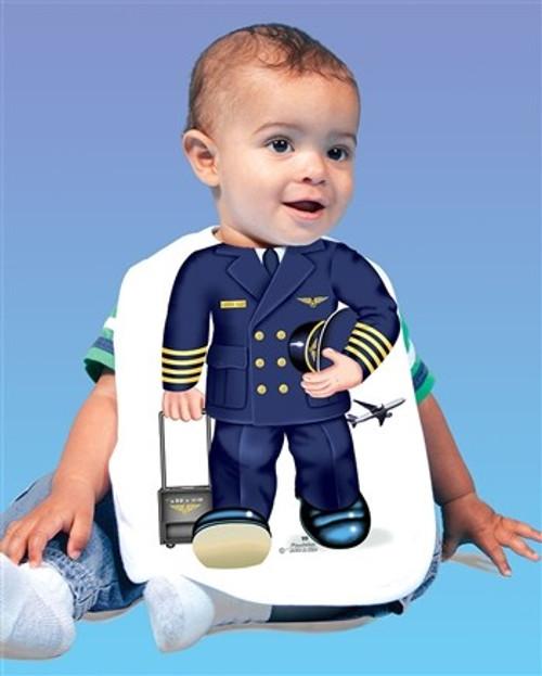 Airline Pilot Toddler Bib