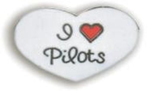 I Love Pilots Pin