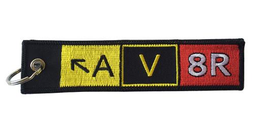 Embroidered AV8R Keychain