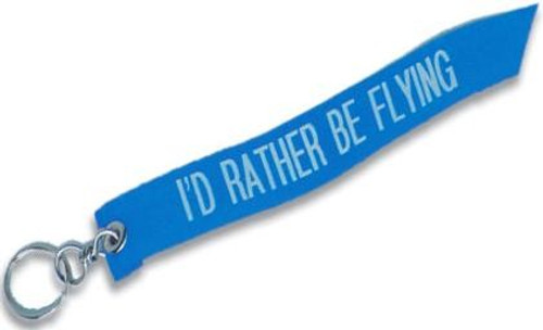 """""""I'd Rather Be Flying"""" Keychain"""
