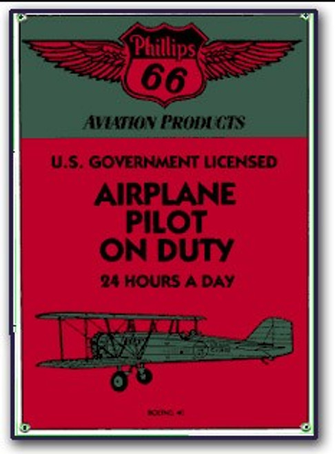 """Airplane Pilot on Duty"" Magnet"