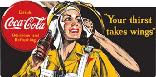 Coke Aviation Magnet-Woman