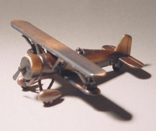 Antique Di- Cast Metal Bi-Plane Pencil Sharpener