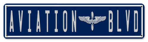 Aviation Blvd Street Sign