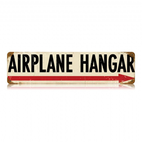 Airplane Hanger Metal Sign