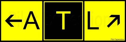 Atlanta Intl Taxiway Sign Sticker