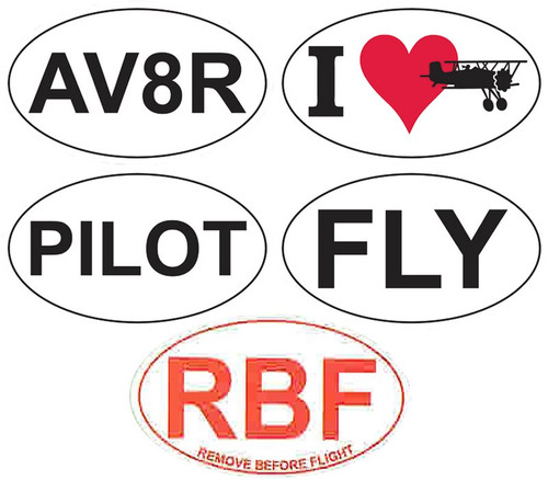 Aviation Euro Stickers