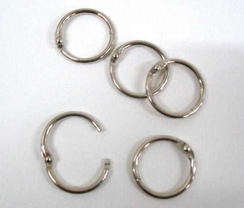 "Metal 1"" Checklist Rings"