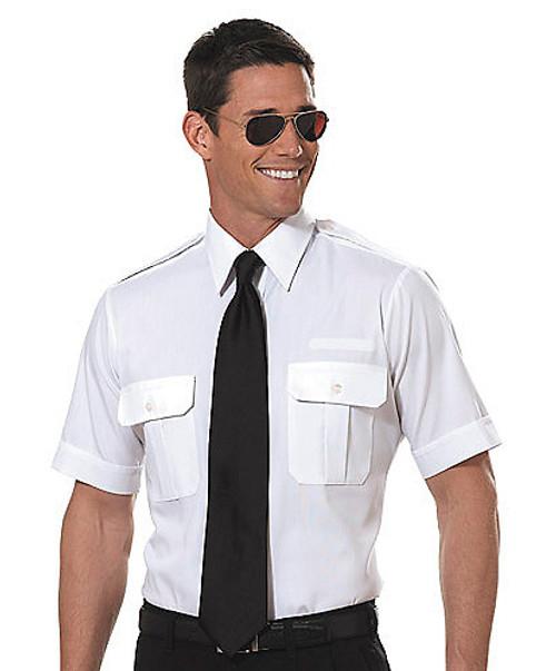 Van Heusen Pilot Short Sleeve Shirt Tapered - White