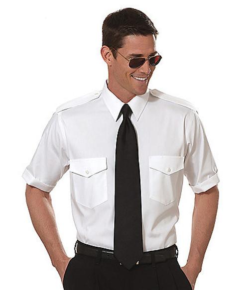 Van Heusen Commander Short Sleeve Shirt - White