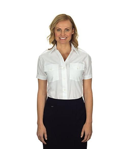 Van Heusen Women's Aviator Short Sleeve Shirt - White