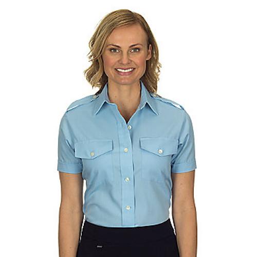 Van Heusen Women's Aviator Short Sleeve Shirt - Blue