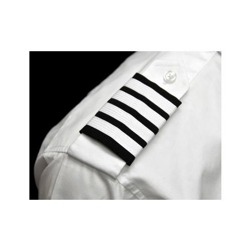 Navy Epaulets - White Stripes