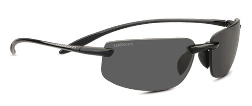 Serengeti Nuvola Sunglasses - Shiny Black, Polar PHD 555NM