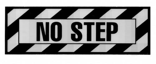No Step Placard