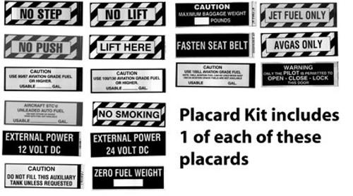 Placard Sample Kit
