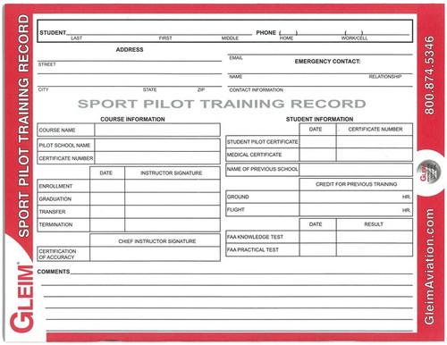 Gleim Sport Pilot Flight Record