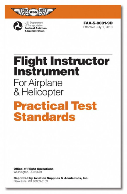 Practical Test Standards - CFI/IFR