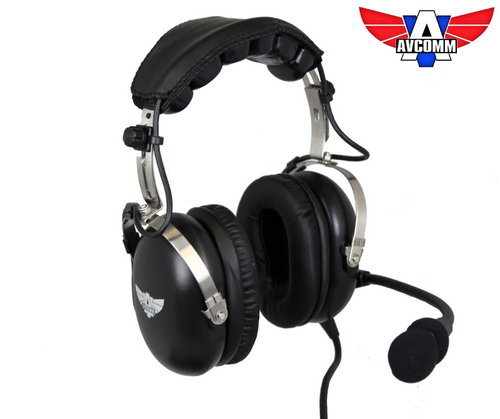 Avcomm AC1000 Matte Black Edition ANR Headset