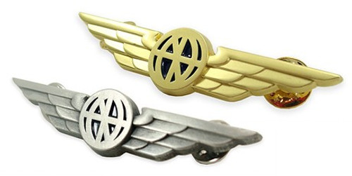 Aviator Wings Lapel Pin