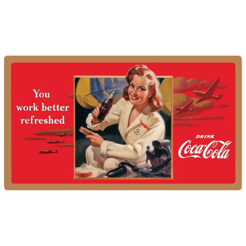 "Coca-Cola ""Work Refreshed"" Beauty Sign"