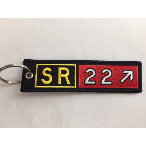 Cirrus SR22 Embroidered Keychain