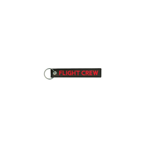 Flight Crew Embroidered Keychain
