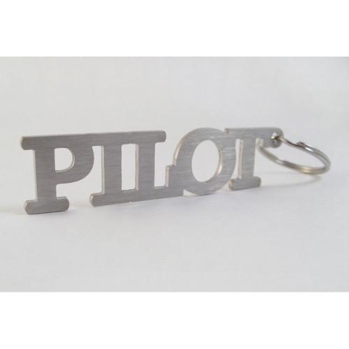 """Pilot"" Stainless Steel Keychain"