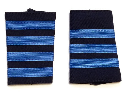 Navy Epaulets - Blue Stripes