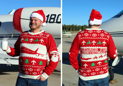 Ugly Aviation Christmas Sweater