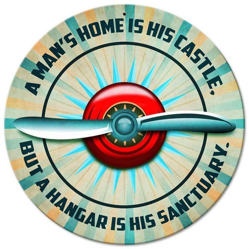 Hangar is His Sanctuary Sign