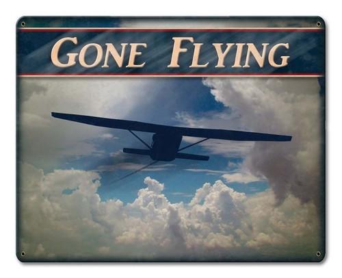 Gone Flying Sign