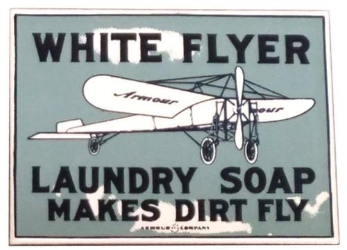 White Flyer Soap Magnet