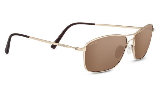 Serengeti Corleone Sunglasses - Matte Soft Gold, Polarized Drivers