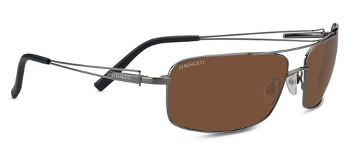 Serengeti Dante Sunglasses - Shiny Gunmetal, Polarized Drivers