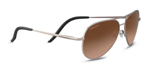 Serengeti Carrara Small Sunglasses - Matte Rose Gold, Polarized Drivers