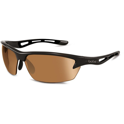 Bolle Bolt Sunglasses - Shiny Black, Phantom Brown Gun