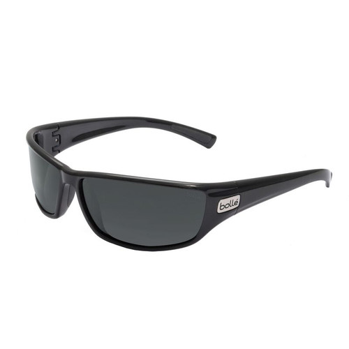 Bolle Python Sunglasses - Shiny Black, HD Polarized TNS