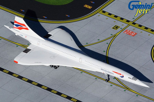 GeminiJets British Airways Concorde  1/400 Reg# G-BOAB