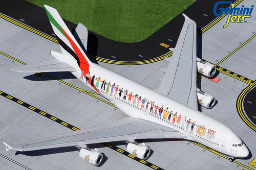 GeminiJets Emirates A380 1/400 Year of Tolerance Reg#A6-EVB