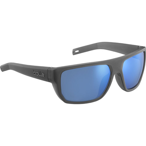 Bolle Vulture Sunglasses - Matte Crystal Grey, Offshore Blue Polarized