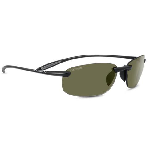 Serengeti Nuvola Sunglasses - Satin Black, Polar PHD 555