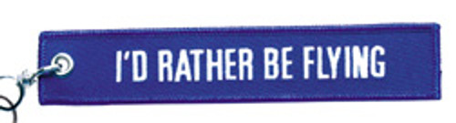 Embroidered I'd Rather Be Flying Keychain