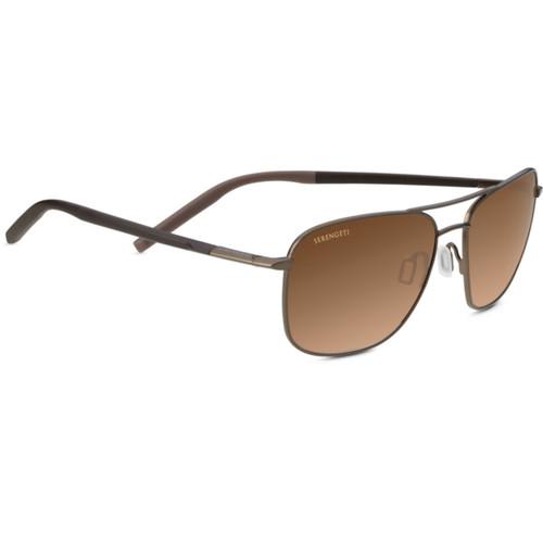 Serengeti Spello Sunglasses - Matte Dark Brown, Chocolate Brown - Mineral Drivers Gradient