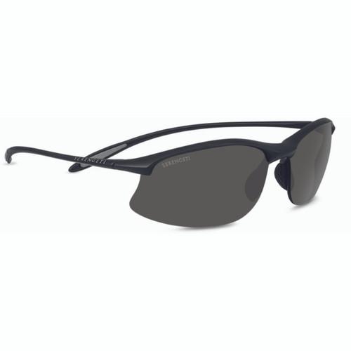 Serengeti Maestrale Sunglasses - Matte Black, Polarized CPG