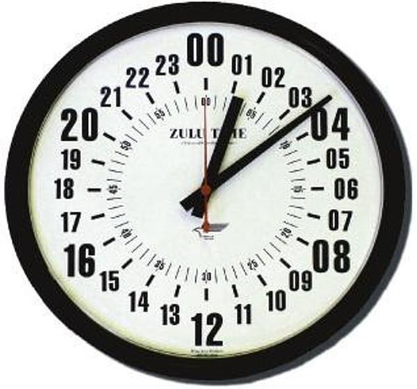 "14"" ZuluTime 24-Hour Clock"